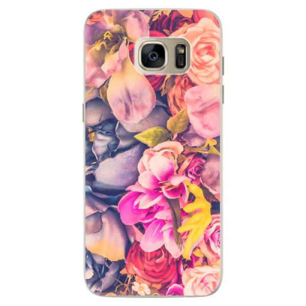 Silikonové pouzdro iSaprio - Beauty Flowers - Samsung Galaxy S7 Edge