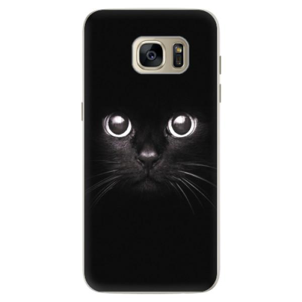 Silikonové pouzdro iSaprio - Black Cat - Samsung Galaxy S7 Edge