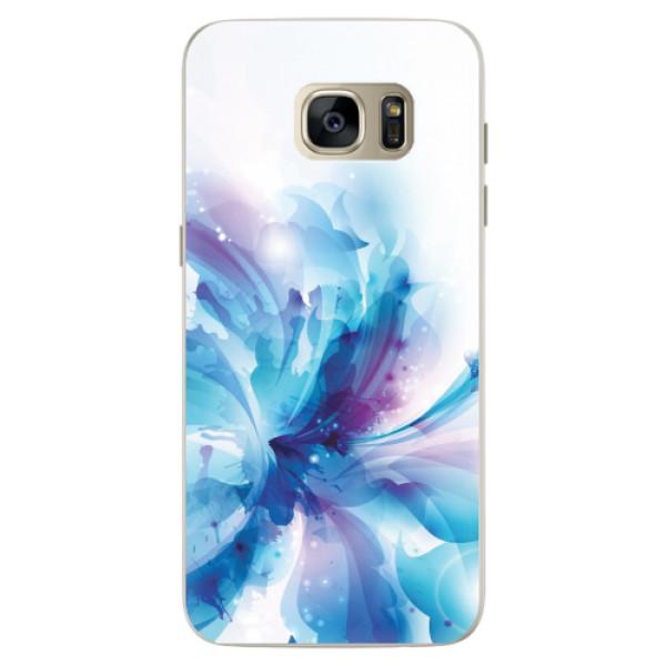 Silikonové pouzdro iSaprio - Abstract Flower - Samsung Galaxy S7 Edge