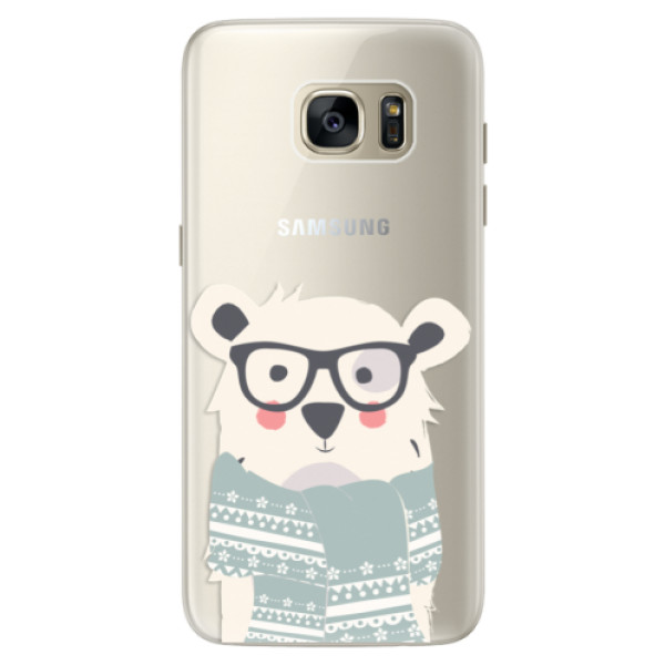 Silikonové pouzdro iSaprio - Bear with Scarf - Samsung Galaxy S7 Edge