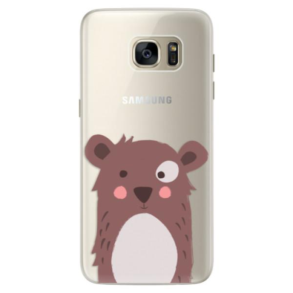 Silikonové pouzdro iSaprio - Brown Bear - Samsung Galaxy S7 Edge