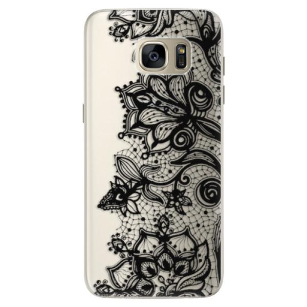 Silikonové pouzdro iSaprio - Black Lace - Samsung Galaxy S7 Edge