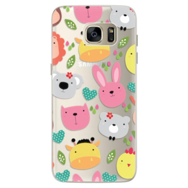 Silikonové pouzdro iSaprio - Animals 01 - Samsung Galaxy S7 Edge