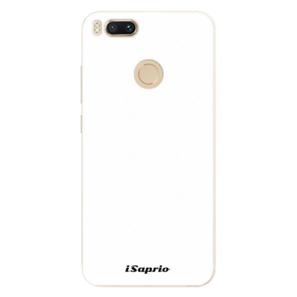 Silikonové pouzdro iSaprio - 4Pure - bílý - Xiaomi Mi A1