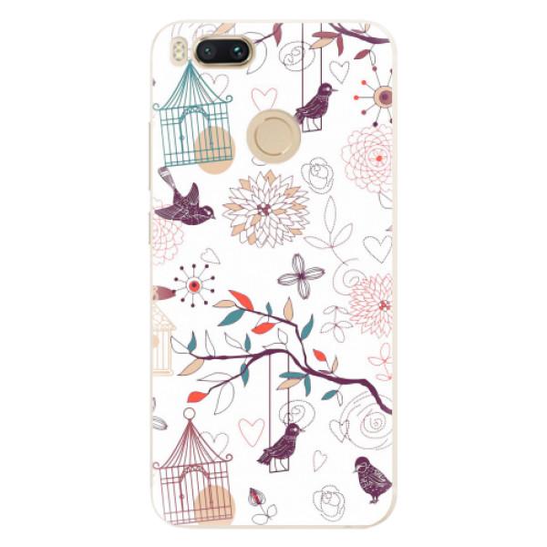 Silikonové pouzdro iSaprio - Birds - Xiaomi Mi A1