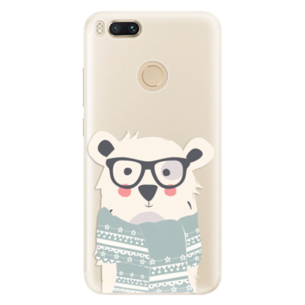 Silikonové pouzdro iSaprio - Bear with Scarf - Xiaomi Mi A1