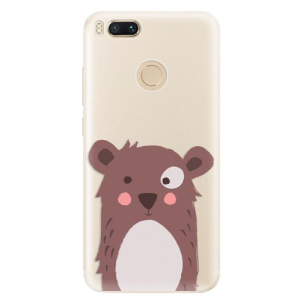 Silikonové pouzdro iSaprio - Brown Bear - Xiaomi Mi A1