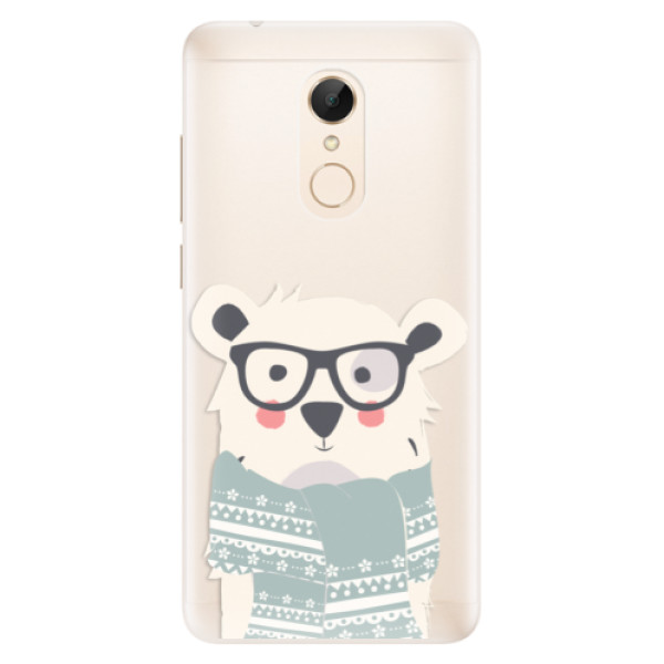 Silikonové pouzdro iSaprio - Bear with Scarf - Xiaomi Redmi 5