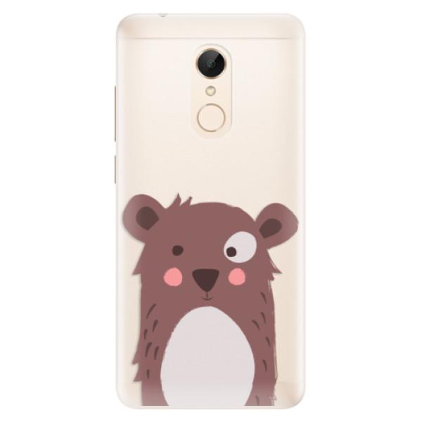 Silikonové pouzdro iSaprio - Brown Bear - Xiaomi Redmi 5