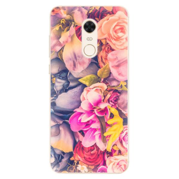 Silikonové pouzdro iSaprio - Beauty Flowers - Xiaomi Redmi 5 Plus