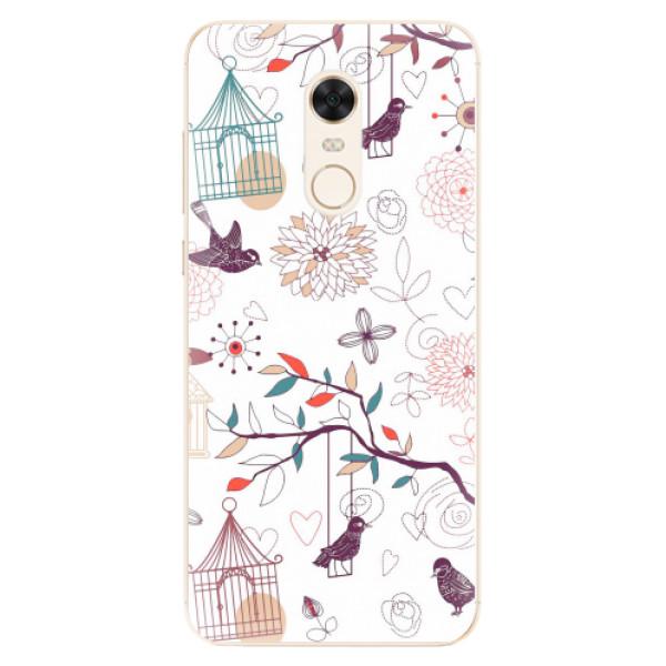 Silikonové pouzdro iSaprio - Birds - Xiaomi Redmi 5 Plus