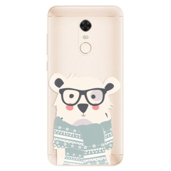 Silikonové pouzdro iSaprio - Bear with Scarf - Xiaomi Redmi 5 Plus