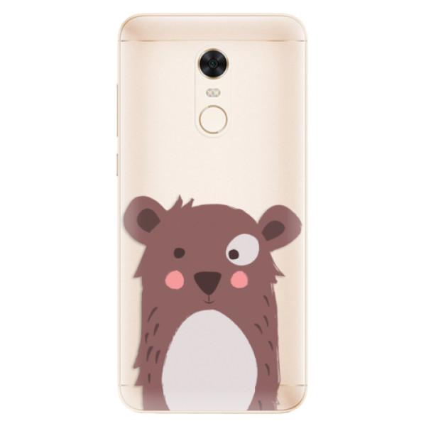 Silikonové pouzdro iSaprio - Brown Bear - Xiaomi Redmi 5 Plus