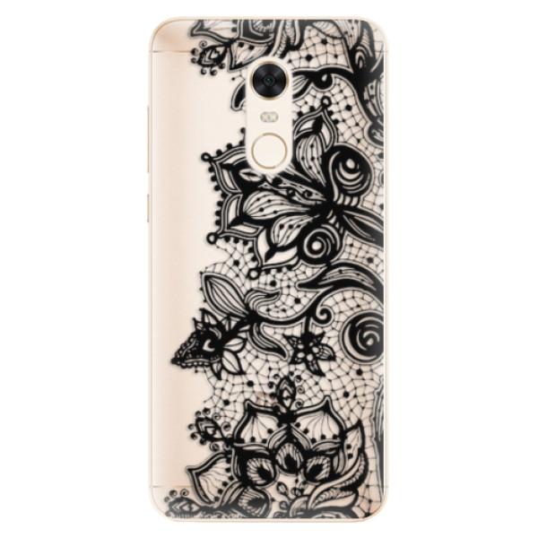 Silikonové pouzdro iSaprio - Black Lace - Xiaomi Redmi 5 Plus