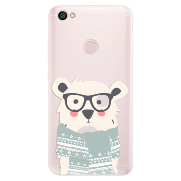 Silikonové pouzdro iSaprio - Bear with Scarf - Xiaomi Redmi Note 5A / 5A Prime