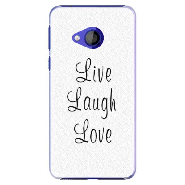 Plastové pouzdro iSaprio - Live Laugh Love - HTC U Play