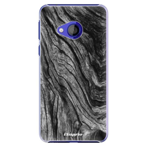 Plastové pouzdro iSaprio - Burned Wood - HTC U Play