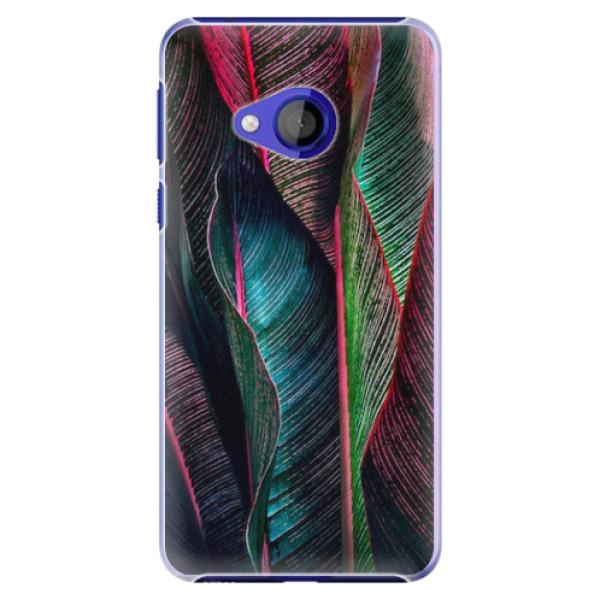 Plastové pouzdro iSaprio - Black Leaves - HTC U Play