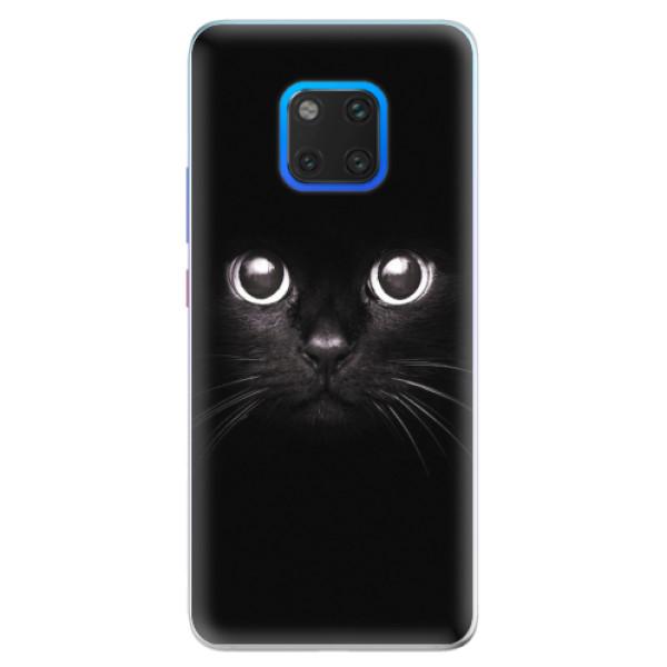 Silikonové pouzdro iSaprio - Black Cat - Huawei Mate 20 Pro