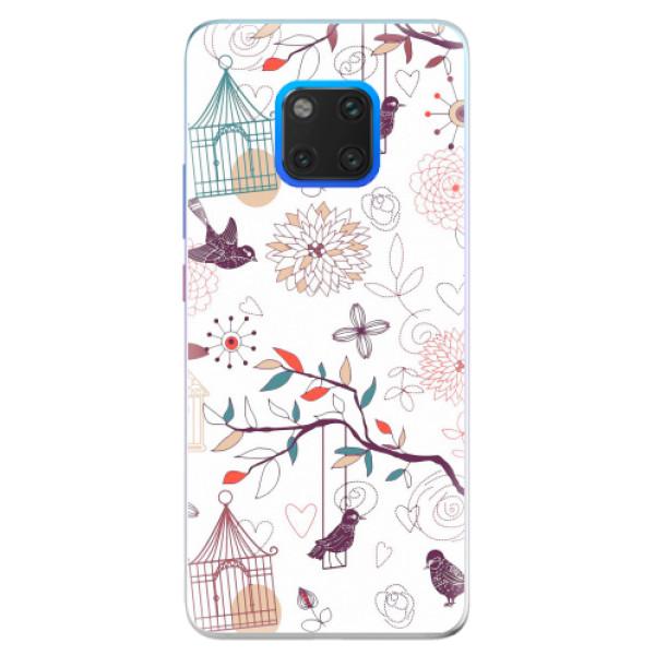 Silikonové pouzdro iSaprio - Birds - Huawei Mate 20 Pro