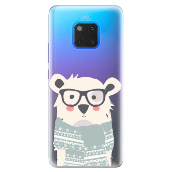 Silikonové pouzdro iSaprio - Bear with Scarf - Huawei Mate 20 Pro
