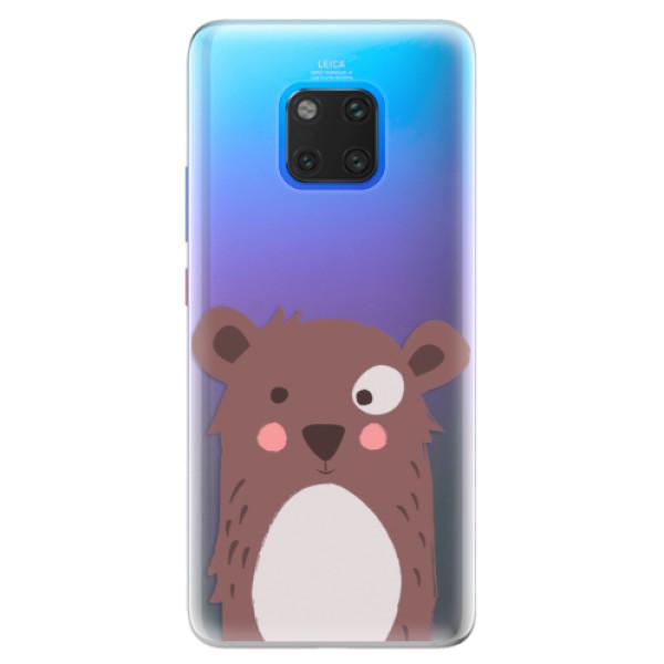 Silikonové pouzdro iSaprio - Brown Bear - Huawei Mate 20 Pro