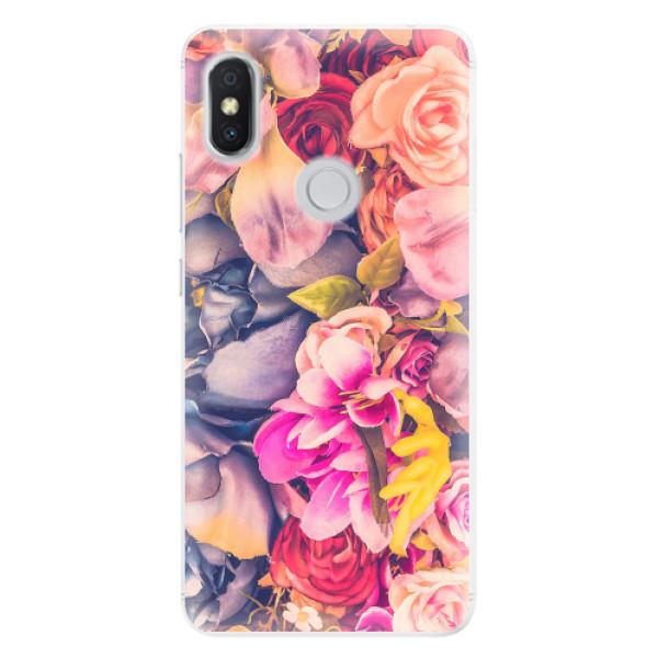 Silikonové pouzdro iSaprio - Beauty Flowers - Xiaomi Redmi S2