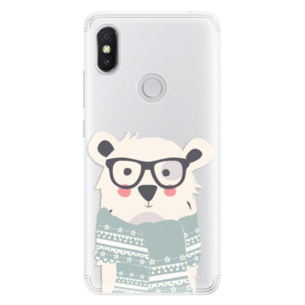 Silikonové pouzdro iSaprio - Bear with Scarf - Xiaomi Redmi S2