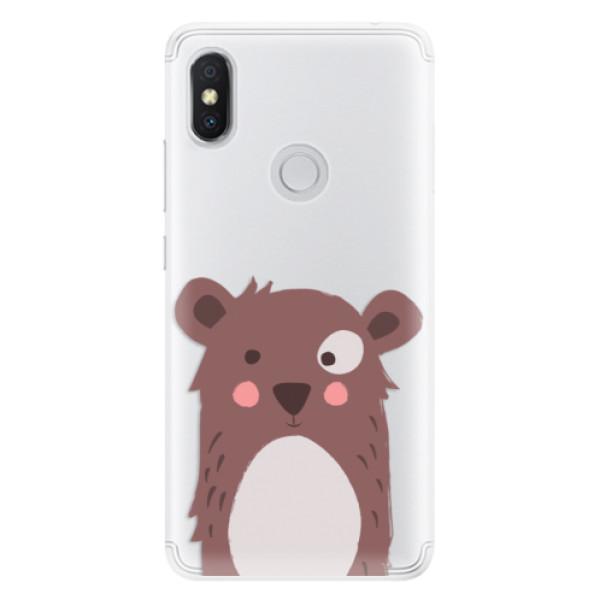 Silikonové pouzdro iSaprio - Brown Bear - Xiaomi Redmi S2