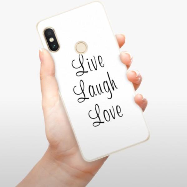 Silikonové pouzdro iSaprio - Live Laugh Love - Xiaomi Redmi Note 5