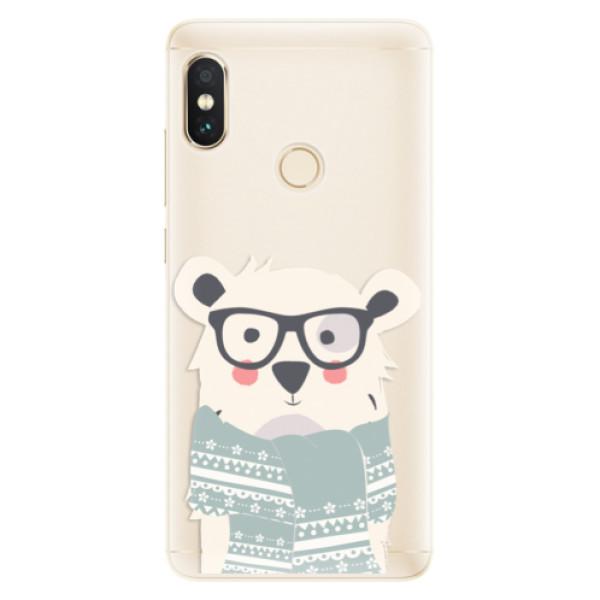 Silikonové pouzdro iSaprio - Bear with Scarf - Xiaomi Redmi Note 5