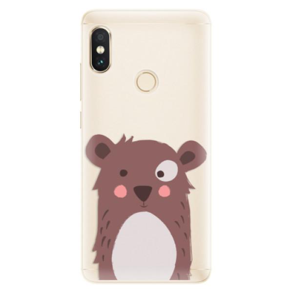 Silikonové pouzdro iSaprio - Brown Bear - Xiaomi Redmi Note 5