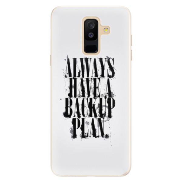 Silikonové pouzdro iSaprio - Backup Plan - Samsung Galaxy A6+