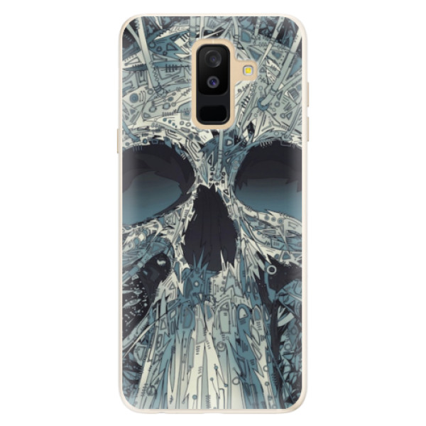 Silikonové pouzdro iSaprio - Abstract Skull - Samsung Galaxy A6+