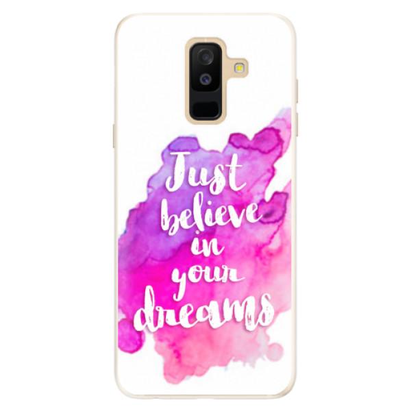 Silikonové pouzdro iSaprio - Believe - Samsung Galaxy A6+