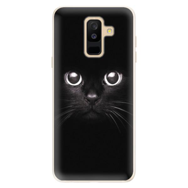 Silikonové pouzdro iSaprio - Black Cat - Samsung Galaxy A6+