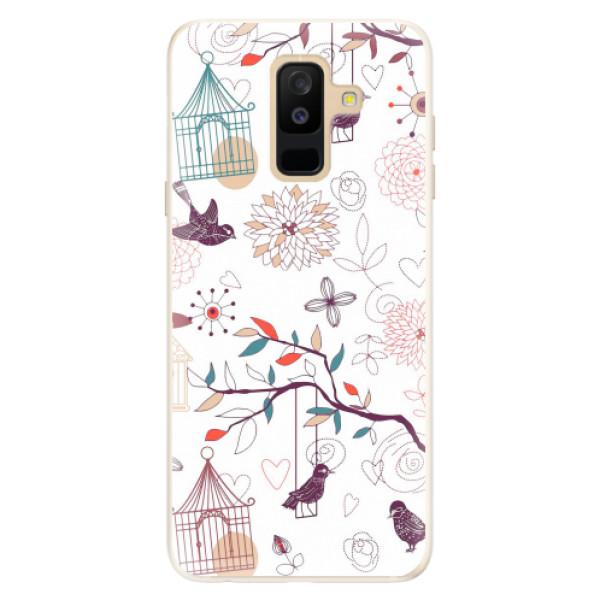 Silikonové pouzdro iSaprio - Birds - Samsung Galaxy A6+