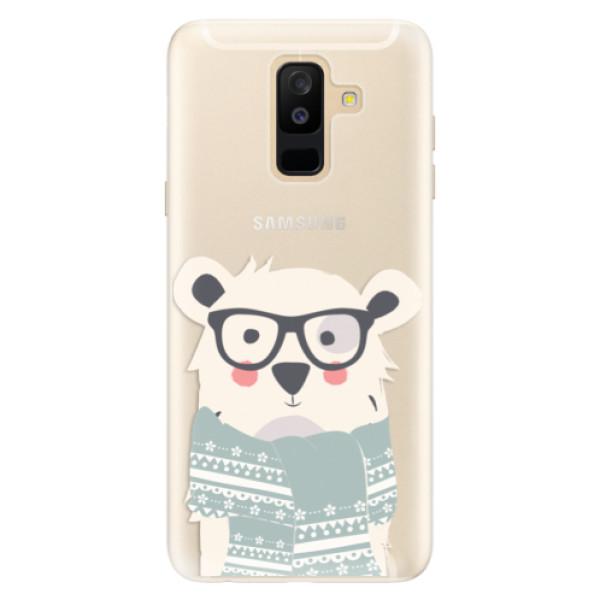 Silikonové pouzdro iSaprio - Bear with Scarf - Samsung Galaxy A6+