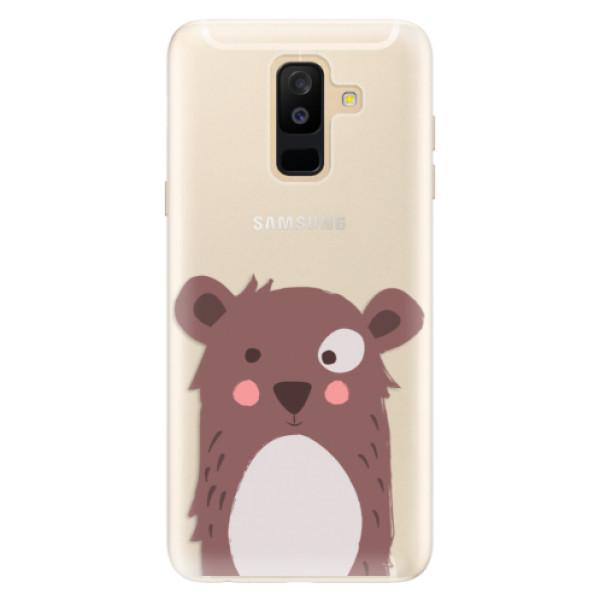 Silikonové pouzdro iSaprio - Brown Bear - Samsung Galaxy A6+