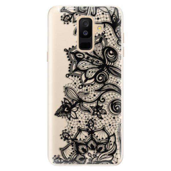 Silikonové pouzdro iSaprio - Black Lace - Samsung Galaxy A6+