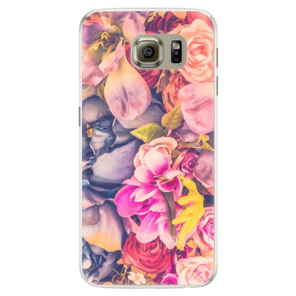Silikonové pouzdro iSaprio - Beauty Flowers - Samsung Galaxy S6