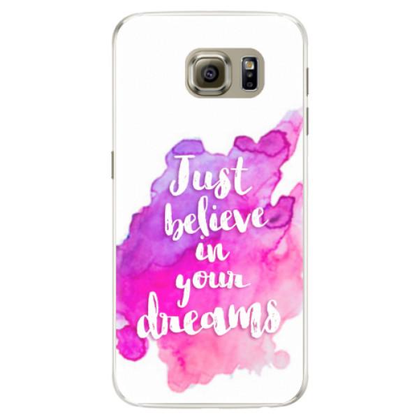 Silikonové pouzdro iSaprio - Believe - Samsung Galaxy S6