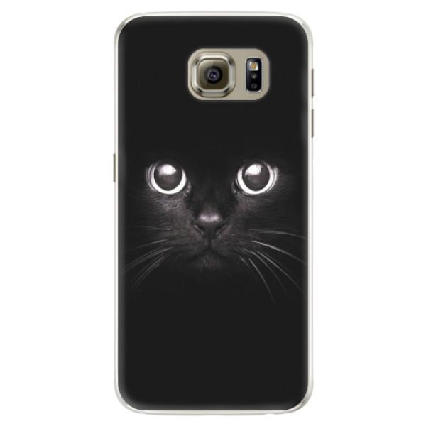 Silikonové pouzdro iSaprio - Black Cat - Samsung Galaxy S6