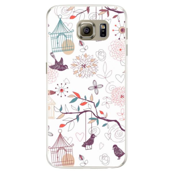 Silikonové pouzdro iSaprio - Birds - Samsung Galaxy S6