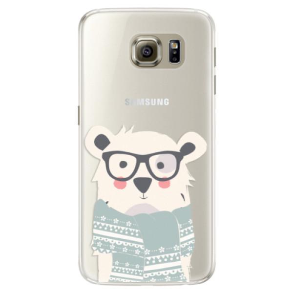 Silikonové pouzdro iSaprio - Bear with Scarf - Samsung Galaxy S6
