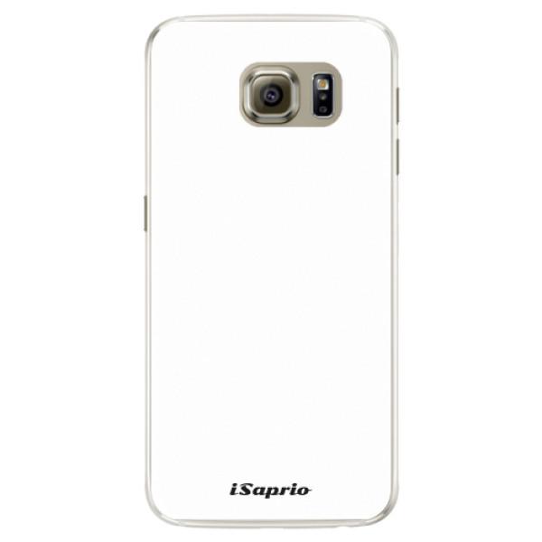 Silikonové pouzdro iSaprio - 4Pure - bílý - Samsung Galaxy S6 Edge