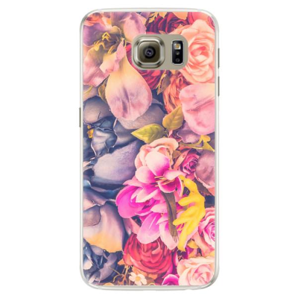 Silikonové pouzdro iSaprio - Beauty Flowers - Samsung Galaxy S6 Edge