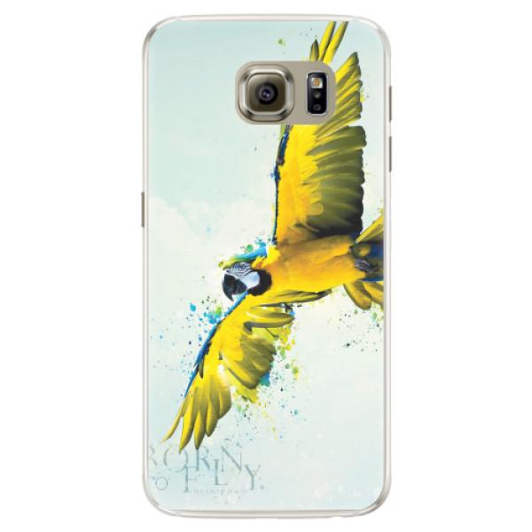 Silikonové pouzdro iSaprio - Born to Fly - Samsung Galaxy S6 Edge