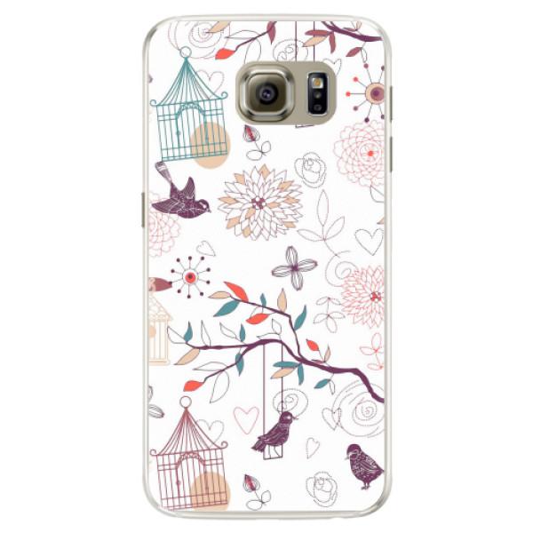 Silikonové pouzdro iSaprio - Birds - Samsung Galaxy S6 Edge