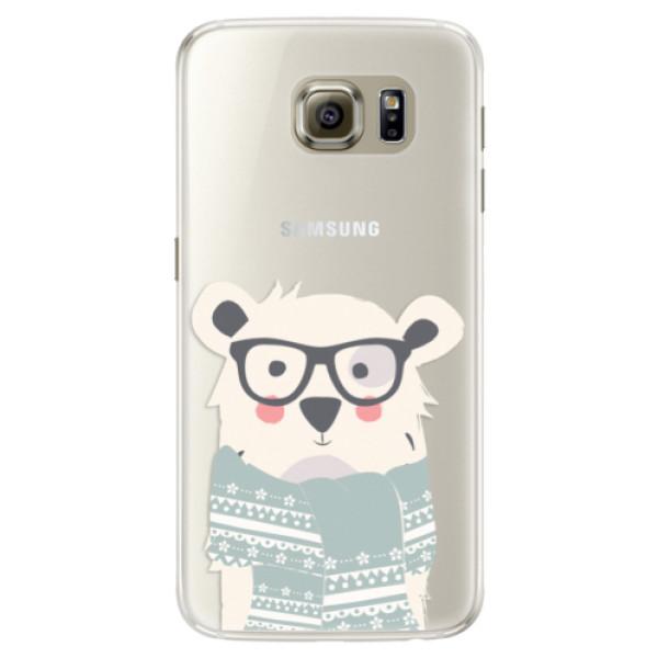 Silikonové pouzdro iSaprio - Bear with Scarf - Samsung Galaxy S6 Edge